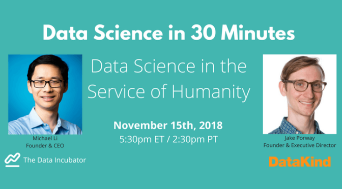 Data Science in 30 Minutes with Jake Porway of DataKind