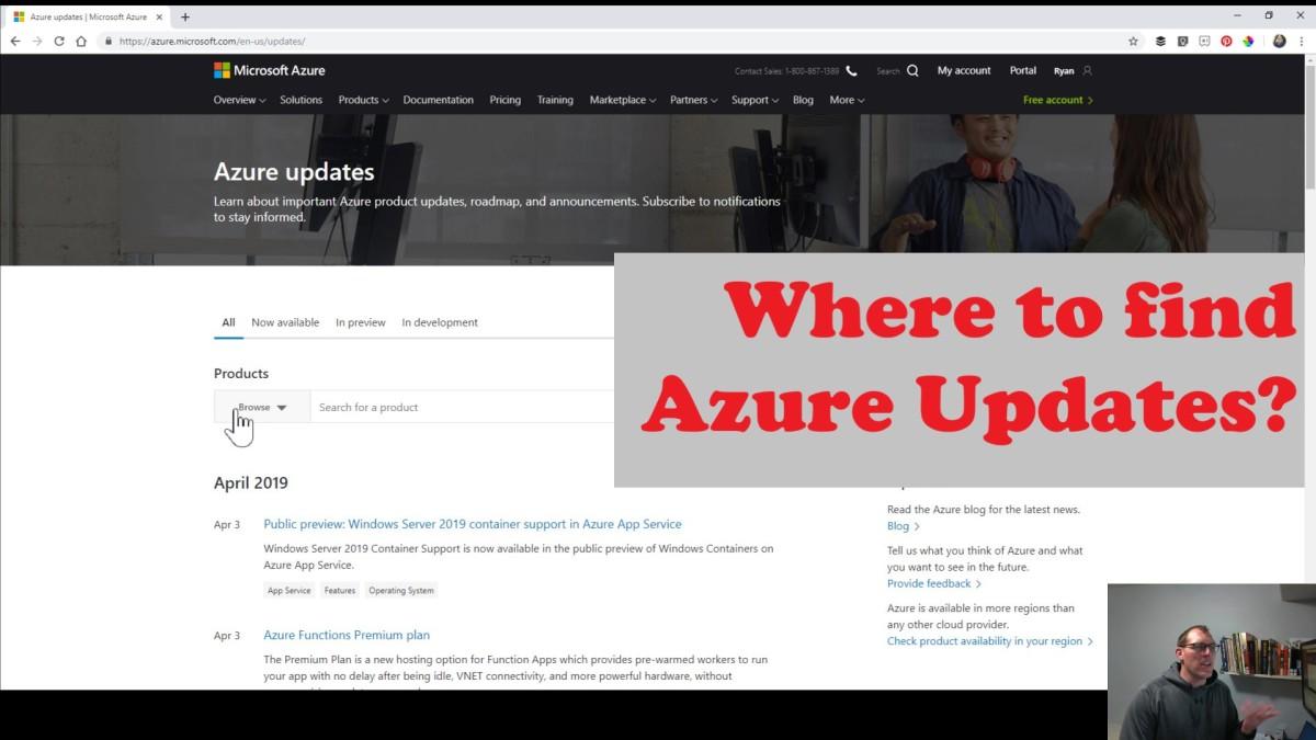 Finding Azure Updates
