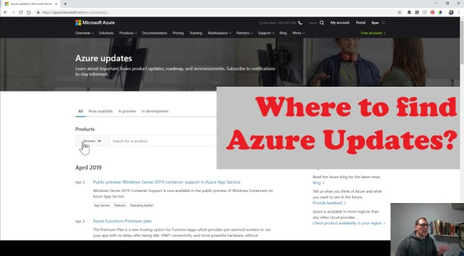 Finding Azure Updates