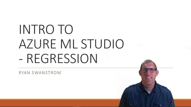 Course Launch – Intro to Azure ML Studio with Regression