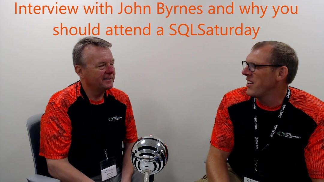 John Byrnes Interview on SQLSaturday